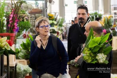 Ilse, Luca e Lucio al mercato dei fiori di Roma